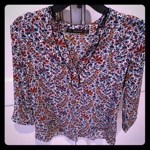 Zara floral blouse. Great fall colors.Lightly worn